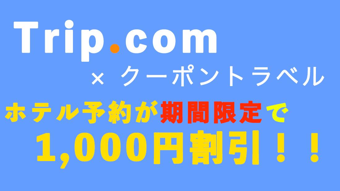 【当サイト限定!】ホテル予約1,000円割引クーポン(1,500枚限定)