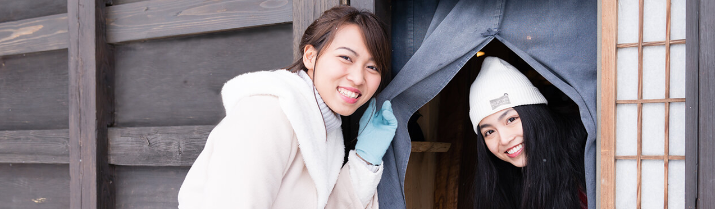 STAY JAPANのトップページの女性
